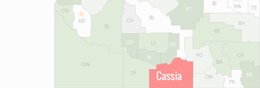 Cassia County Map