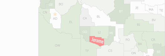 Jerome County Map